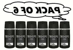 6 AXE Black Deodorant Bodyspray Men Body Spray 150 mL each
