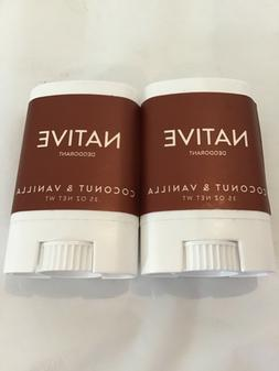 Native Deodorant COCONUT & VANILLA .35 oz. Travel Size Free