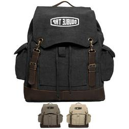 Army Force Gear Double Tap Vintage Canvas Rucksack Backpack