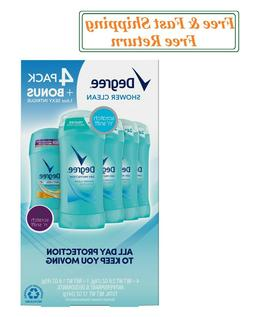 Degree Dry Protection Deodorant, Shower Clean 2.6 oz,4 pk+1.