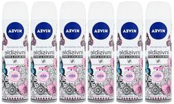 3 x Nivea Invisible Women For Black&White Clear Body Spay fo
