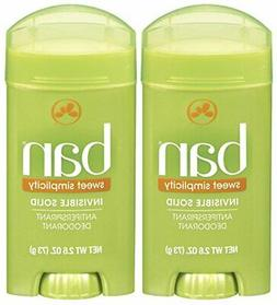 Ban Invisible Solid Deodorant, Sweet Simplicity - 2.6 oz - 2