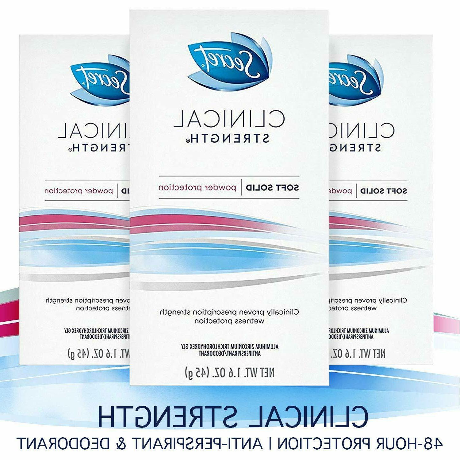 clinical deodorant soft solid powder protection women