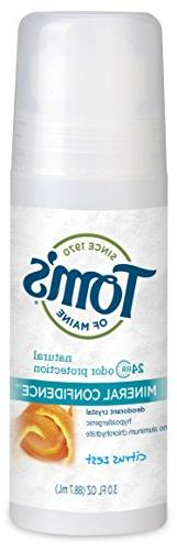 Tom's of Maine Fragrance Free Natural Confidence Roll-On Deo
