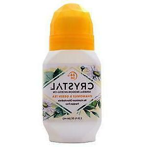 Crystal Deodorant Essence Roll-On 2.25oz Chamomile/Green Tea