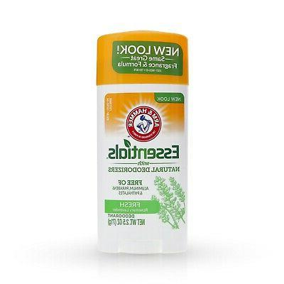 2 Arm & Hammer ESSENTIALS FRESH Solid Deodorant NATURAL DEOD