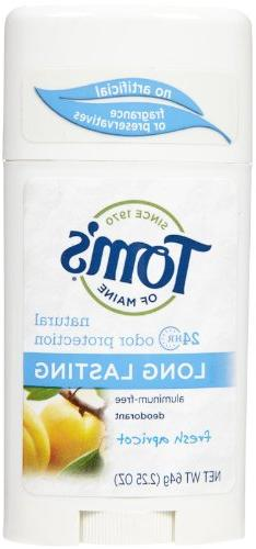 Tom's of Maine Natural Long-Lasting Deodorant Stick Apricot