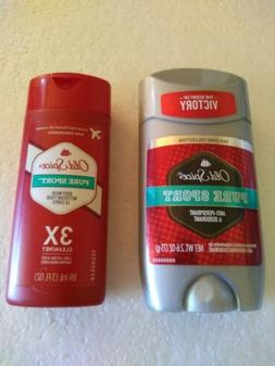 2 PC Old Spice Pure Sport  Deodorant Red Zone 2.6 Oz Travel